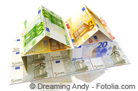 Zwei Geldschein-Häuser