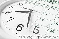 Uhr und Kalender verschmolzen