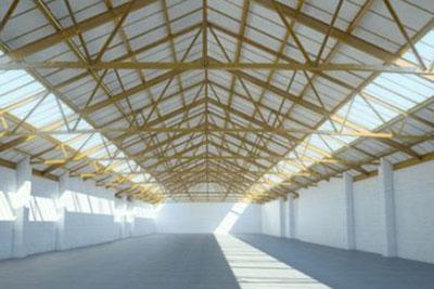 Gewerbehalle Dach