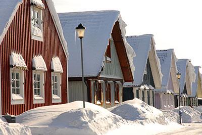 Haus lüften bei Schnee