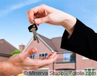 Überreichung des Hausschlüssels